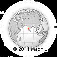Outline Map of Belgaum, rectangular outline
