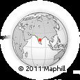Outline Map of Orvakallu Rock Gardens, rectangular outline