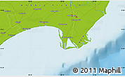 """Physical Map of the area around 15°48'18""""N,80°49'29""""E"""