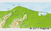 """Physical 3D Map of the area around 15°48'18""""N,84°55'30""""W"""