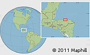 Savanna Style Location Map of Tocoa