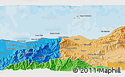 """Political 3D Map of the area around 15°48'18""""N,86°37'30""""W"""