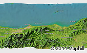 """Satellite 3D Map of the area around 15°48'18""""N,86°37'30""""W"""