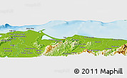 Physical Panoramic Map of Palomas
