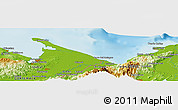 Physical Panoramic Map of Quebrada Seca