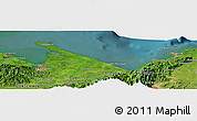 Satellite Panoramic Map of Quebrada Seca