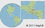 Savanna Style Location Map of Xpicilha Village