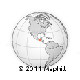 Outline Map of Canquintic, rectangular outline