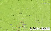 """Physical Map of the area around 15°48'18""""N,9°16'30""""W"""
