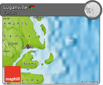 Free Physical Map of Luganville