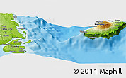 """Physical Panoramic Map of the area around 15°27'46""""S,167°31'30""""E"""