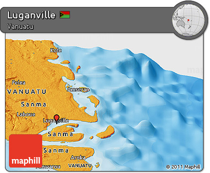 Free Political Panoramic Map of Luganville