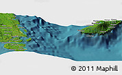 "Satellite Panoramic Map of the area around 15° 27' 46"" S, 167° 31' 30"" E"