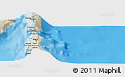Shaded Relief Panoramic Map of Lamorou