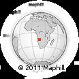 Outline Map of Caiundo, rectangular outline