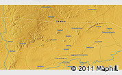"""Physical 3D Map of the area around 15°27'46""""S,26°25'29""""E"""