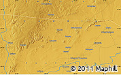 """Physical Map of the area around 15°27'46""""S,26°25'29""""E"""