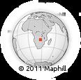Outline Map of Itezhi Tezhi Town Council, rectangular outline