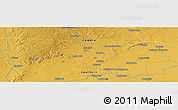 """Physical Panoramic Map of the area around 15°27'46""""S,26°25'29""""E"""