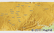 """Physical 3D Map of the area around 15°27'46""""S,28°58'30""""E"""