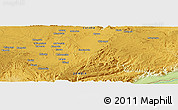 """Physical Panoramic Map of the area around 15°27'46""""S,28°58'30""""E"""
