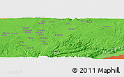 """Political Panoramic Map of the area around 15°27'46""""S,28°58'30""""E"""
