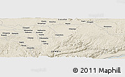 """Shaded Relief Panoramic Map of the area around 15°27'46""""S,28°58'30""""E"""