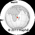 Outline Map of Nacala, rectangular outline