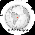 Outline Map of Brasilia, rectangular outline