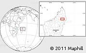 Blank Location Map of Maroantsetra