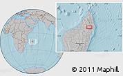 Gray Location Map of Maroantsetra, hill shading