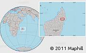 Gray Location Map of Maroantsetra