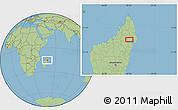Savanna Style Location Map of Maroantsetra