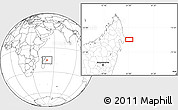 """Blank Location Map of the area around 15°27'46""""S,51°4'30""""E"""