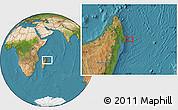 "Satellite Location Map of the area around 15°27'46""S,51°4'30""E"