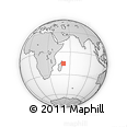 "Outline Map of the Area around 15° 27' 46"" S, 51° 4' 30"" E, rectangular outline"