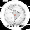 Outline Map of San Miguel De Huachi, rectangular outline