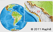 Physical Location Map of Santa Lucía