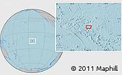 Gray Location Map of Garumaoa, hill shading