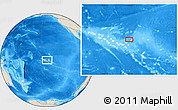 Shaded Relief Location Map of Garumaoa