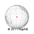 Outline Map of Rotoava, rectangular outline