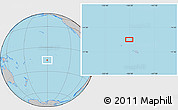 """Gray Location Map of the area around 15°58'32""""S,150°22'30""""W"""