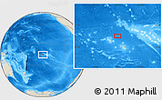 """Shaded Relief Location Map of the area around 15°58'32""""S,150°22'30""""W"""