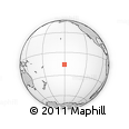 """Outline Map of the Area around 15° 58' 32"""" S, 150° 22' 30"""" W, rectangular outline"""