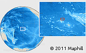 "Shaded Relief Location Map of the area around 15° 58' 32"" S, 151° 13' 29"" W"