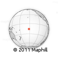 """Outline Map of the Area around 15° 58' 32"""" S, 152° 4' 29"""" W, rectangular outline"""