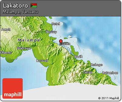 Free Physical 3D Map of Lakatoro