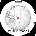 Outline Map of Lakatoro, rectangular outline