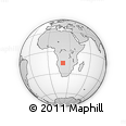 Outline Map of Mavinga, rectangular outline