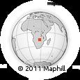 "Outline Map of the Area around 15° 58' 32"" S, 26° 25' 29"" E, rectangular outline"